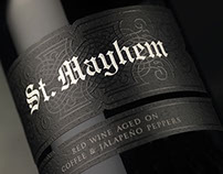 St. Mayhem Wine Label & Packaging