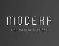 The FREE Modeka Font
