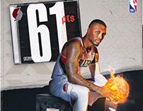 Damian Lillard | 61pts | NBA