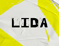 Lida font - inspired by the art of linocut and papercut