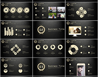 27+ gloden Creative infographics annual PowerPoint Temp