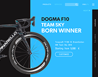 High-end bicycle reseller landing page header template