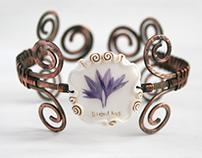 Real Flower bracelet - Grandma's Garden Jewelry