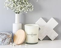 Hutwoods Candles - Rebrand & Packaging Design