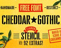 Cheddar Gothic Stencil - Free Font