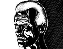 Blade Runner (Roy Batty) B&W Illustration