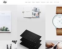 Portfolio Full-Width Page - Rare WordPress Theme