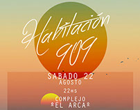Habitación 909 PARTY / Poster art