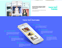 THICK TEXT Landing page