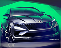 Press Sketch - Škoda Vision RS