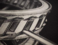 Cylindrical structure [intaglio]