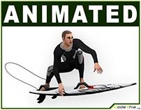 3D Model: White Surfer 10718 tris