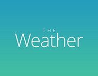 Weather web interface with minimalism
