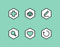 Brand Design: habu health icon set