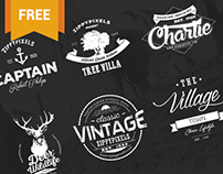 Vintage Vector Logo Design Kit + 15 Free Logo Templates