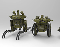 All-terrain battle robot