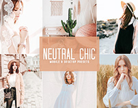 Free Neutral Chic Mobile & Desktop Lightroom Presets
