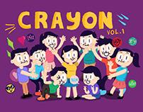 Crayon Greeting Illustration