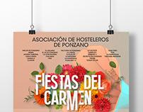 CARTEL FIESTAS DEL CARMEN. Asoc. de Hosteleros Ponzano