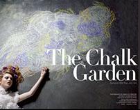 The Chalk Garden: Chalk illustration for FantasticsMag