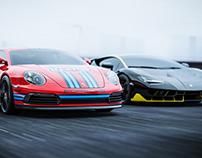 PORSCHE Renazzo VS Lamborghini Centenario