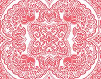 Pink Paisley Print
