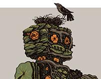 Illustration: floral robot
