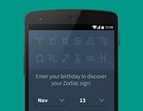 Horoscope App Redesign