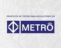 Proposta de totem para bicicletário do Metrô