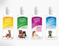 Farmavet dog shampoo packaging design