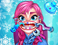Frozen Characters at the Dentist