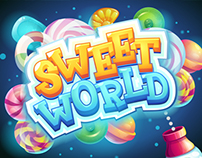Sweet world candy shooter mobile GUI