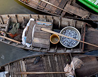 Cambodian fishing village