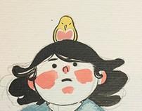 A Menina e o Pássaro Amarelo