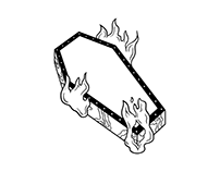 Burning Coffin