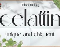 Free Font: Celattin – Unique Ligature