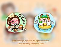 """Emoji design for iOS APP """"momo"""""""
