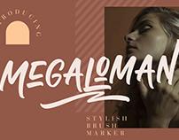 MEGALOMAN BRUSH MARKER - FREE FONT