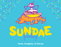 Sundae Funday Fonts & Graphics
