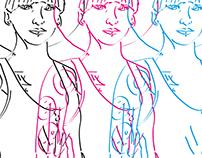 Woman/Sketch/Line