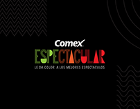 Logo lettering COMEX ESPECTACULAR