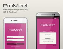 ProMeet - Meeting Management App