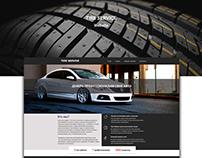 Tire service landing page