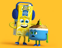 FIRST CHOICE CUSTARD MASCOT REBRAND