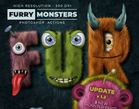 Furry Monsters – Photoshop Actions – 300 DPI