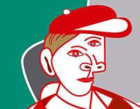 Cubist Portrait for Formula Santander