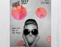 House Deep Live - Free PSD Flyer Template