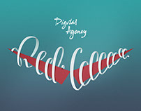 Red Collar Lettering Poster