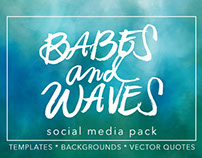 Babes & Waves Social Media Templates