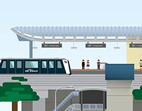 Illustration - Singapore 365. A Retrospective on 2013.